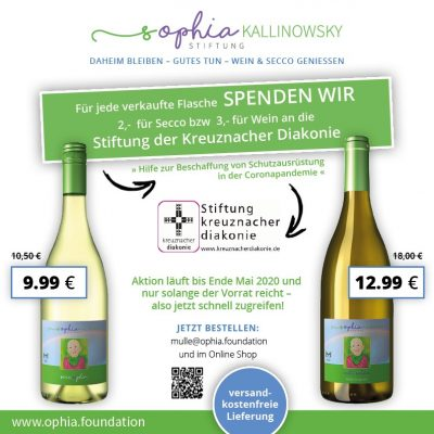Sophia-Kallinowsky-Stiftung Wein/Secco-Aktion